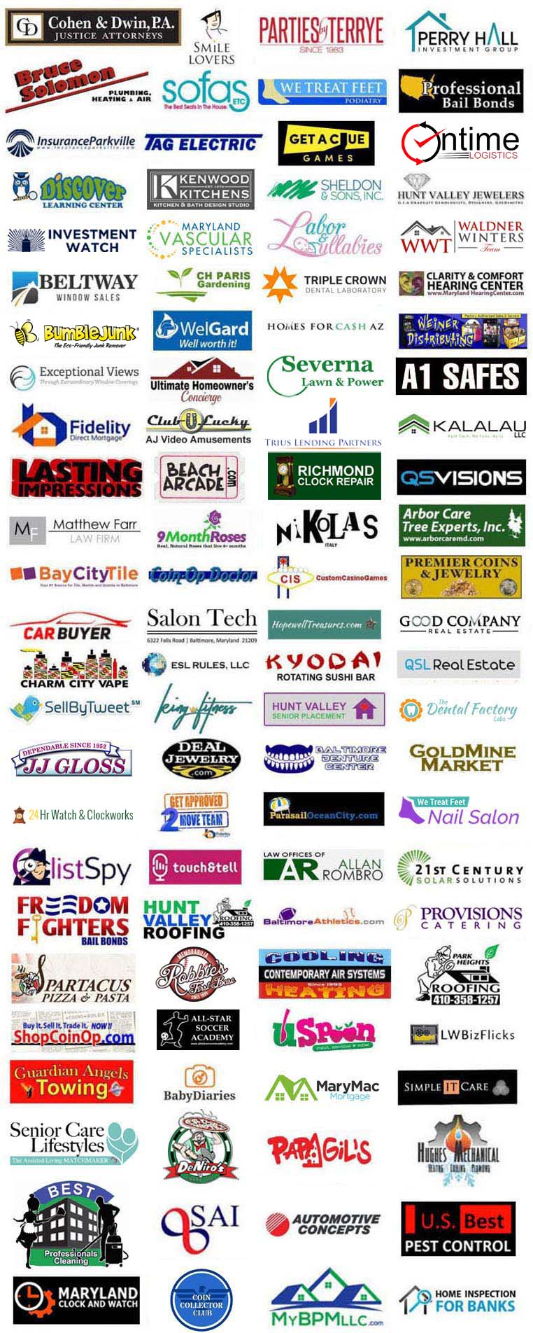 Local and Nationwide client logos for theWebSharks